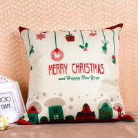 Quality Printed Pillow Cushion Covers , Christmas Series Decorative Sofa Pillows for sale