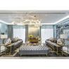 China Luxury Stainless Steel Living Room Furniture / Bedroom Sofa Set wholesale