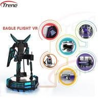 China One Player Stand Up Flight VR Simulator Black With LED Lights For Supermarket wholesale
