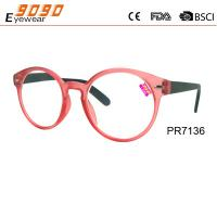 China Fashionable Circle frame Reading glasses, made of plastic , suitable for men and women wholesale