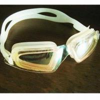 China Swimming Goggles with Silicone Head Strap and Eye Seals wholesale
