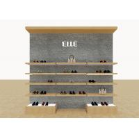 China Mix Version Men's Shoe Shop Display Stands Wooden Shelves With Custom LOGO wholesale