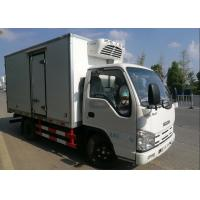 China ISUZU 2 Tons Ice Box Truck , Refrigerated Cold Room Truck For Frozen Fish Transportation wholesale