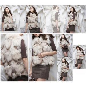 China Women's Fox Fur Vests Fox Fur Coats Fox Fur Jackets Fox Legs Fur Z18 wholesale