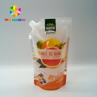 China BPA Free Plastic Packaging Bag Ziplock Reusable Drink / Water Food Containers wholesale