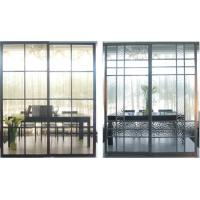 China Custom Durable Metal Room Dividers With Glass, Modern Partition Sliding Doors For Bathroom on sale