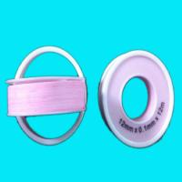 China High Density Pink Teflon Tape , PTFE Thread Seal Tape 12mm x0.1mm x12m on sale