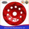 China Metal Bond 125mm Diamond Swirl Cup Wheel 9 Nos Teeth For Stone / Concrete wholesale