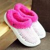 China Unisex Plush Lining Winter Indoor Slippers , Women Mens Fleece Slippers wholesale