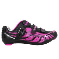 China Breathable Ladies Road Cycling Shoes Bright Color Printed Low Wind Resistance wholesale