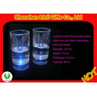 China PS Plastic Liquid Activated 60ml Glow Led Shot Glasses Personalized Barware Gifts FB12015 on sale