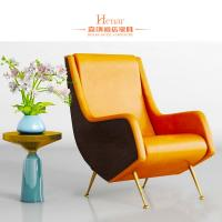 China Customized Luxury Living Room Furniture / Office Waiting Room Chairs With Golden Leg wholesale