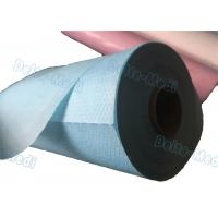 China Perforated Disposable Bed Sheets , Disposable Examination Bed Cover Roll PE Coated wholesale