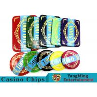 Economy Plastic Casino Poker Chips Set 760 pcs With Aluminum Case for sale