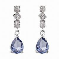 China Fashionable Silver/925 Sterling Jewelry Earrings for Promotion Gifts, OEM/ODM Orders Welcomed wholesale