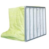 China Fire Retardant Pocket Air Filter AHU / Yellow F8 Non Woven Material With 6 Bags wholesale