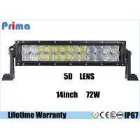 China Combo Beam 5D 72 Watt 14 Inch LED Car Light Bar For 4 X 4 Vehicles DC 9V - 32V wholesale