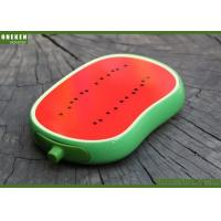 China OEM / ODM Fresh Watermelon Fruit Power Bank , 4000mAh Quick Charge Powerbank wholesale