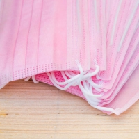 China Non-woven Cotton Face Mask OEM 3 Ply  Pink Mouth Face Mask Melt Blown Fabric on sale