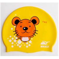 Buy cheap Durable High Elastic Silicone Swimming Caps Kids Swim Cap That Keep Hair Dry from wholesalers