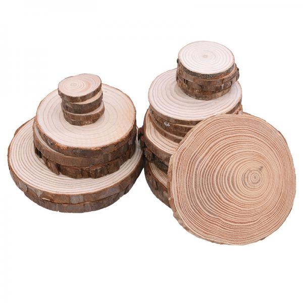 Quality Bark Log 12cm Unfinished Wood Crafts  Natural Wood Slices for sale