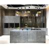 China Rock Door Panel Complete Kitchen Cabinet Set With Wood Door Panel Industrial Style E1 Grade wholesale