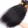 China Brazilian / Peruvian Kinky Straight Virgin Human Hair Bundles With Natural Color wholesale