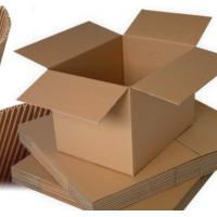 Insert Paper Packing Box Adhesive Corrugated Shipping Box / Transport Packing Box