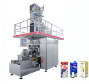 China High Speed Beverage Packaging Machine , Aseptic Brick Carton Juice Filling Machine wholesale
