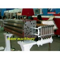 China PP / PC Pressure Resistant. Hollow Grid Sheet  Extrusion Machine Single Screw on sale