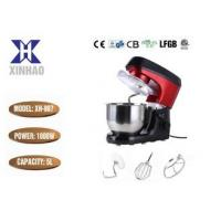 China Injection Black And Red 1000w Kitchen Stand Mixer Household Plastic Mixer With 5L S/S Bowl wholesale