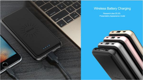 Quality Portable Wireless Phone Charger Qi Wireless Charging Pad W Power Bank for sale