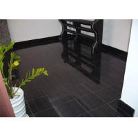 China Black Wood Marble Stone Tiles For Hotel Decoration Vein Cut Acid Resistant wholesale