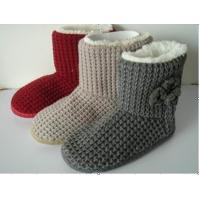 China Fashion / Cute Styles Womens Knitted Boots / Warm Snow Boots on sale