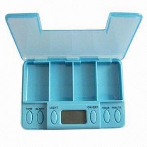 China Vibrating Pillbox with 5 Alarm Settings wholesale