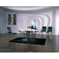 China Ltalian Leather Dining Chair, Stainless Steel Modern Dining Room Furniture wholesale