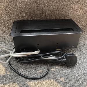 China Universale Power Data RJ45 Desktop Socket Box / Black Color Tabletop Mounted Power Net Box For Office Desks wholesale