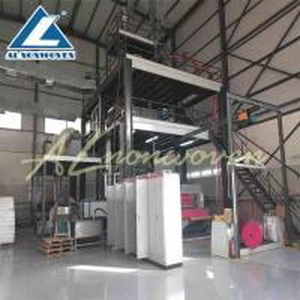 China Single S Model Pp Non Woven Fabric Making Machine , Non Woven Fabric Manufacturing Plant wholesale
