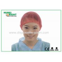 China PP Nonwoven Colorful Disposable Scrub Caps / Mens Surgical Caps on sale