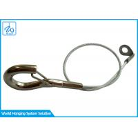 China Customized Design Stainless Steel Wire Rope Fittings 1.5mm Safety Rope With Hook on sale