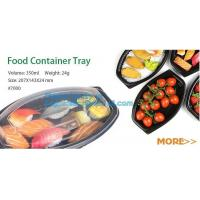 China Food container tray,Black 5 Compartment Food Packaging Blister Plastic Fruit Tray,blister plastic microwave food ovenabl on sale