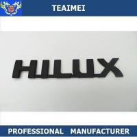 China Matte Black ABS Hilux Letter Nameplate Custom Car Emblems For Body Sticker wholesale