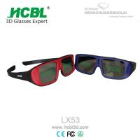 Unfolded ABS Frame Reald 3D Glasses Red With 0. 26 ~ 0.4 mm Thickenss Filter Lens