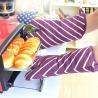 China AZO Free Cotton Canvas Kitchen Baking Glove wih Stripe Pattern Printed wholesale