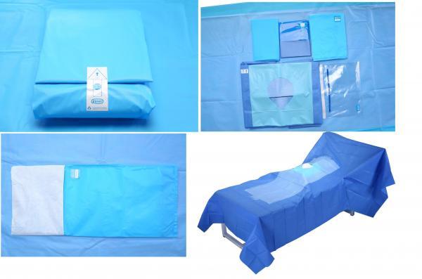 Quality Hospital Use Medical EO Sterile Fenestrated Drape Pack , Hip U Drape for sale