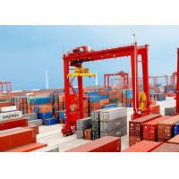 China Loading And Unloading Container Lifting Crane , RMG Rail Mounted Gantry Crane on sale
