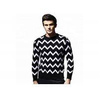China Jacquard Pattern Nylon Mens Round Neck Long Sleeve Pullover Sweaters For Spring wholesale