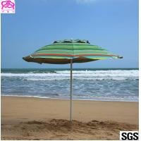 Buy cheap Custom leisure summer outdoor sun beach umbrella , beach umbrella parasol with from wholesalers