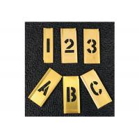 China Customized Standard Brass Interlocking Stencils For Paint Print Gold Color wholesale