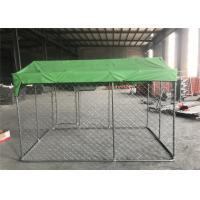 China 7.5x7.5x6ft(2.3x2.3x1.8m) chain link fabric dog kennel HDG and Self highed Locking dog fence wholesale